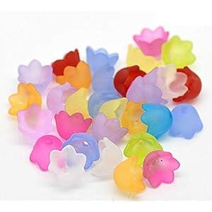 5 Stück Filigran Perlkappen Blumen, Engelsrock