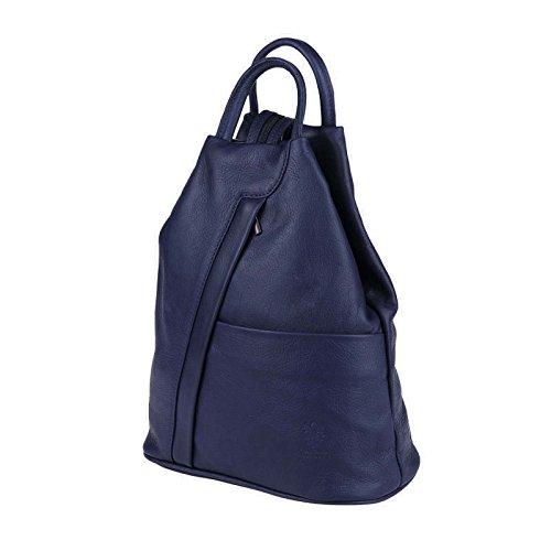 OBC Only-Beautiful-Couture, Borsa a zainetto donna Argento argento/nero ca. 25x30x11 cm (BxHxT) Blu scuro/Blu marino