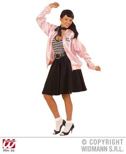 KOSTÜM - JACKE PINK LADY - Größe 46/48 (XL), 50er Jahre Ladies Grease Musical Theater Aufführung Film Bluse Blouson