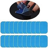 LIHAO 10 Paires Patchs Electrostimulation Gel Pads Remplacement de Feuille pour EMS Ceinture Abdominale Electrostimulation - 4×6 cm