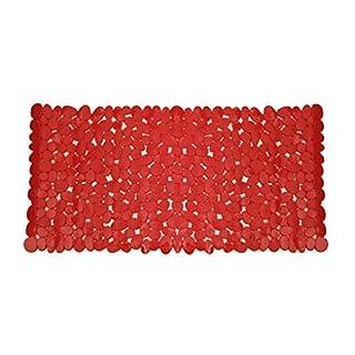 Anik-Shop BADEWANNENEINLAGE 70x35cm Steinoptik 4-Farben Wanneneinlage Badewannenmatte 36 (Rot)