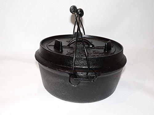 I&O BBQ ® Dutch Oven 'Pioneer' 4,5qt (ca3ltr) Gußeisentopf, Bräter, Feuertopf Lagerfeuertopf