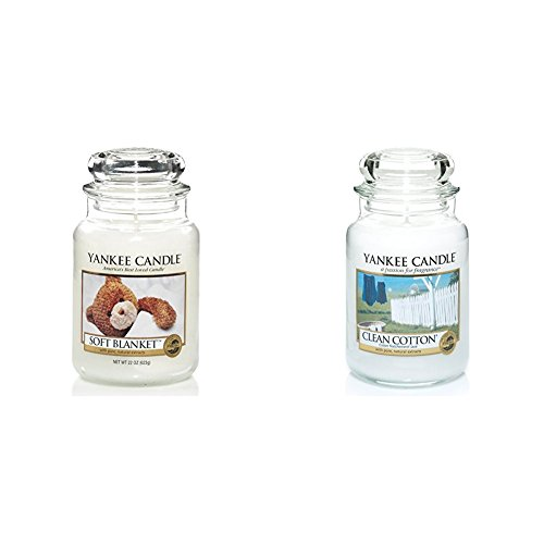 YANKEE CANDLE 1173563E Soft Blanket Grosses Jar 1010728E Clean Cotton Grosses Jar