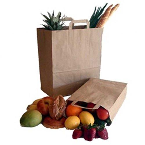 25 Stk. 1-PACK Papiertragetaschen aus Kraftpapier, 220+100x280mm, braun 70 gr. / Nachhaltigkeit: Tun Sie was gutes, kaufen Sie Papiertaschen!
