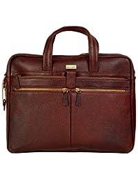 """SCHARF Sir Bernard-Lut Modern Trade 17"""" Leather Laptop-Macbook Sleeve Shoulder Crossbody Messenger Briefcase Bags."""