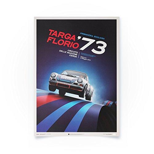 Porsche 911 RSR - Targa Florio - Einzigartiges Design, Limitierte Auflage Posters - Standard Poster Format 50 x 70 cm Rennen-auto-dekorationen