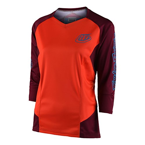 Troy Lee Designs Ruckus Trail Jersey 3/4Sleeve Girls Orange Size L