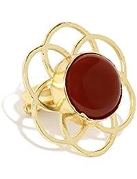 Zaveri Pearls Sterling Semi Precious Red Jasper Finger Ring - ZPFK5771