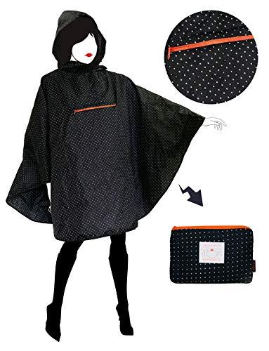 SMATI - Poncho/Capa Lluvia Capucha. Moda Mujer. Tejido