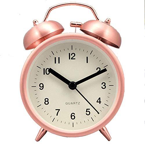 Wecker Metall Mode Persönlichkeit Sweeping Candy Farbe Student Schlafzimmer Bedside Mute 3,8 Zoll Klingeln, Pink