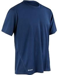 Spiro hombres de secado rápido impermeable manga corta camiseta, hombre, Quick Dry Waterproof Short Sleeve, verde lima, mediano
