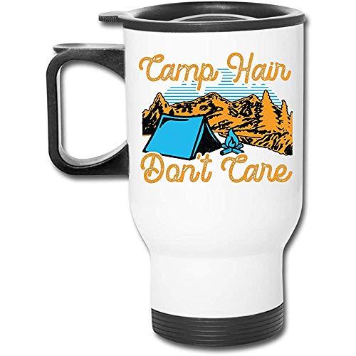 Little Yi Camp Hair Don 'T Care Edelstahl Reisebecher Becher Tee Tasse Kaffee Auto Tasse