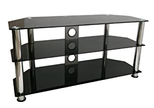 Mountright UMS4 Glass TV Stand For 32 Up To 60 Inch (105cm wide) LED LCD & Plasma Television
