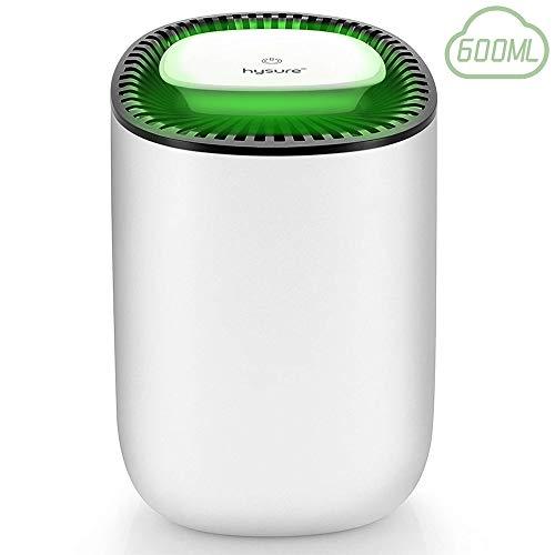 Mini Lunftentfeuchter 600ml Raumentfeuchter kompakter und tragbarer Entfeuchter leise Dehumidifier in der Küche im Schlafzimmer Büro und Garage zu Hause, gegen Feuchtigkeit, Schmutz und Schimmel