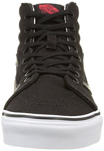 Vans Sk8-hi Reissue, Sneakers Hautes mixte adulte Noir (Twill & Gingham/Black/True White)