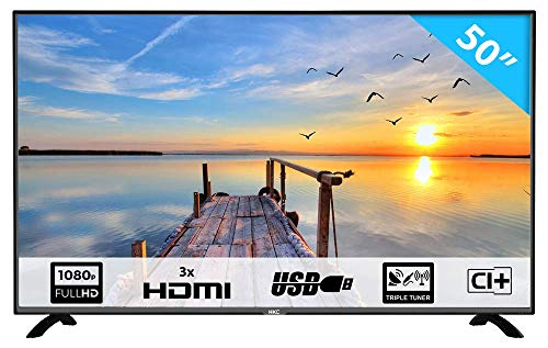 HKC 50F2 127 cm (50 Zoll) LED Fernseher (Full-HD, Triple Tuner, CI+, HDMI, Mediaplayer via USB)