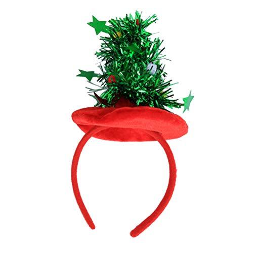 Toyvian Weihnachtsbaum Haarreif Stirnband Weihnachten Kinder Erwachsene Kostüm Haarschmuck Weihnachtsfeier Hut (Rot) (Bopper Kostüm)