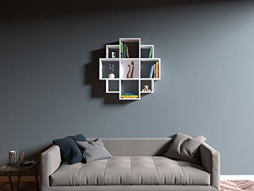 bloom tag re murale tag re livres pour d coration de salon en bois dans un design moderne. Black Bedroom Furniture Sets. Home Design Ideas