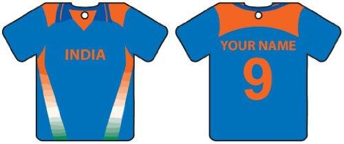 ambientador-de-coche-personalizado-india-cricket-shirt