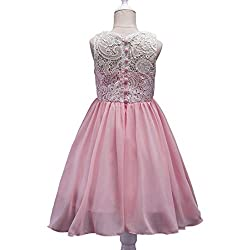 Girls Dress, Sonnena Girls Lace Tutu Tulle Gown Princess Dress Pageant Bridesmaid Dress Wedding Formal Dress Party Dresses Girls Lace Tulle Dress Sleeveless Dresses Girls Party Outfit Kids Sundress by Sonnena