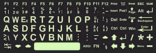 WWM Tastaturaufkleber Schweiz Glow in The Dark Leuchtend