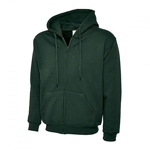 Uneek New Classic Full Zip Hooded Sweatshirt Hoodie Top 10+ Colours Sizes XS to 3XL