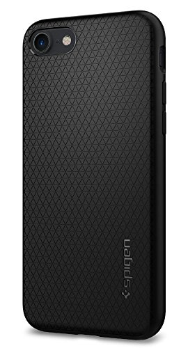 iPhone 7 Hülle, Spigen® [Liquid Air] Soft Capsule [Schwarz] Luftpolster-Technologie Silikon Handyhülle - Soft Flex Premium-TPU Schutzhülle für iPhone 7 Case, iPhone 7 Cover - Black (042CS20511)