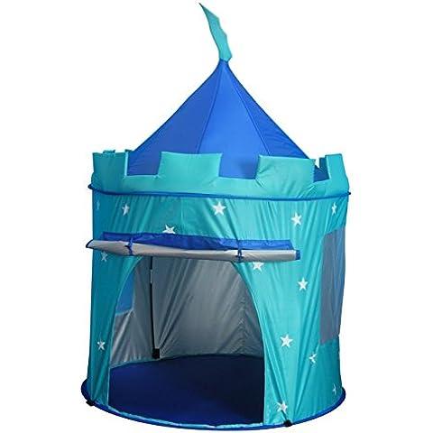 MaMaMeMo - Tienda campaña/casa/carpa plegable con forma de castillo de Caballero (interior y exterior proteccion rayas UVA)
