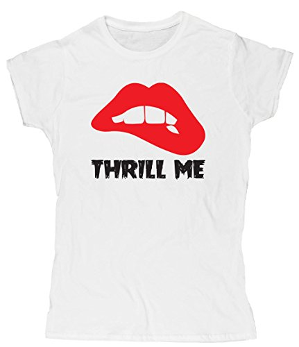 Hippowarehouse Thrill Me Womens Fitted Short Sleeve t-Shirt (Specific Size Guide In Description)