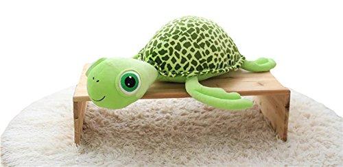 Good Night Cartoon Green Big Eyes tortue enfants en peluche, décoration Rome à la maison (60cm)