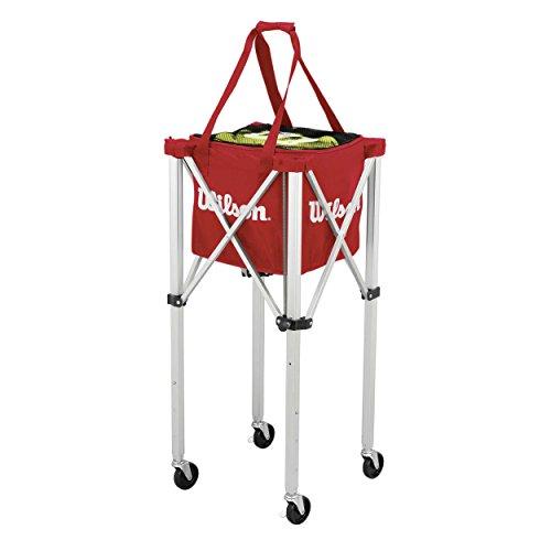 Wilson Ballwagen, Tennis Teaching Cart, für bis zu 150 Bälle, rot, WRZ541000 -