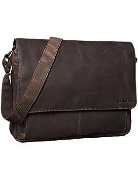 STILORD 'Lonzo' Vintage Umhängetasche echtes Büffel-Leder Messenger Bag für Herren und Damen Unitasche Büro Business...