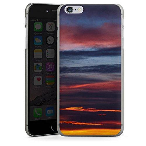 Apple iPhone X Silikon Hülle Case Schutzhülle Sonnenuntergang Himmel Wolken Hard Case anthrazit-klar