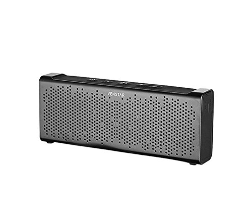 Altavoces Bluetooth, altavoces inalámbricas portátiles, altavoces Bluetooth, altavoces estéreo portátiles de Bluetooth V4.0, altavoces Bluetooth para iPhone, iPad, Android y otros dispositivos [de color gris] con batería incorporada de litio de 15 horas de funcionamiento autónomo