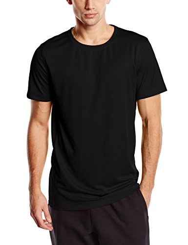 Stedman Apparel Herren T-Shirt Active 140 Crew Neck/st8400 Schwarz - Black Opal