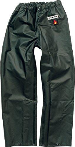 Ocean Classic Bundhose - Ölzeughose aus PVC auf Baumwollträger. DAS Ölzeug für den Profi (4XL, olivgrün)