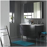 soldes meuble de salle de bain double vasque gris laqu avec 4 tiroirs gris planete bain - Salle De Bain Meuble Gris