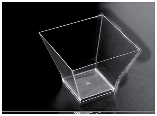 Gold Plast-Medium-COUPELLE Pagoda 12 par paquet 80x80 mm transparent