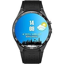 Teepao KW883G WiFi intelligente orologio Smartwatch telefono cellulare All-in-One Bluetooth Smart Watch Android 5.1SIM Card con GPS, fotocamera, cardiofrequenzimetro, Google Map, Google Play, Black + Silver, 28.5*2.8cm