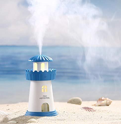Tomatoa Mini Luftbefeuchter Tragbarer Ultraschall luftbefeuchter Schlafzimmer Lampen Befeuchter Leuchtturm LED Befeuchter Luft Diffusor Reiniger Zerstäuber - Luft-reiniger Ofen