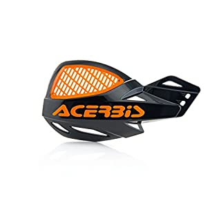 Acerbis Vented Uniko Handguards, Black/Orange