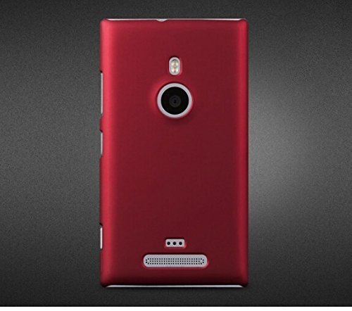 Generic Rubberised Hard Case Back Cover for NOKIA LUMIA 925 - MAROON WINE RED  available at amazon for Rs.169