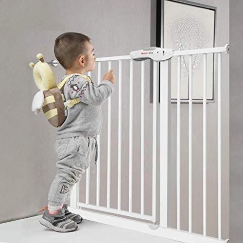 Huo Barrera De Seguridad Escalera, Puerta De Seguridad para Bebé Barandilla para Niños Barandilla De Balcón Soporte De Pared Ajustable (Size : Width 102-110cm)