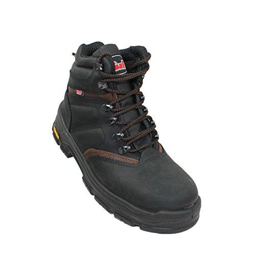 TuF s3 berufsschuhe businessschuhe hRO sRC chaussures de chaussures de sécurité chaussures de travail noir Noir - Noir