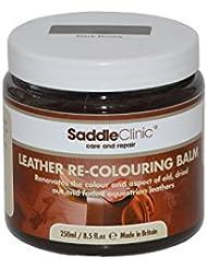 Selle en cuir clinique re-colouring Baume sans transfert.–250ml (Choix de Noir ou Marron)