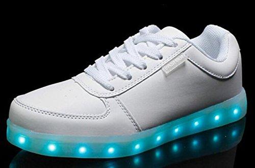 Sneaker Sportschuhe Farbe Leuchtend Unisex Usb Weiß 7 Schuhe Erwach present Handtuch junglest Turnschuhe Sport Für Led kleines Aufladen q8wFxP7