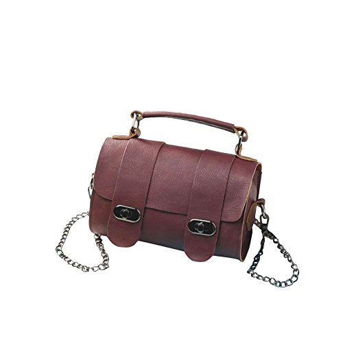 Feixiang - Borsa a tracolla donna Red Wine