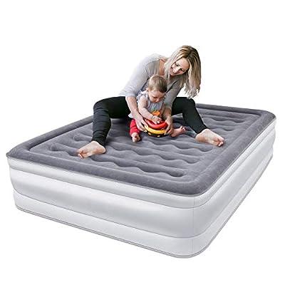 Colchón de Aire Hinchable 203 x 153 x 45cm cama hinchable Con Inflación Rápida
