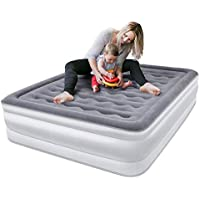 Queen Size Air Bed Air Mattress Double Size Inflatable Bed Built-in Electric Pump - 203 x 153 x 45cm