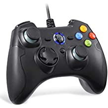EasySMX Mandos PS3 Gamepad, Game Mando PC Joystick con los Botones de Doble-Vibración, Trigger Compatible con Windows/Android/PS3/TV Box (Negro)